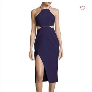 Cinq a sept solid halter cut out dress size 4